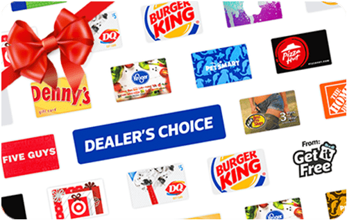 $25 Dealers Choice Gift Card